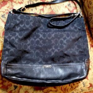 Coach Black Signature Hobo Bag #F23279